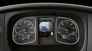 12.7 cm instrument cluster with video function.