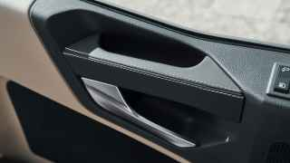 Door handle in nappa leather